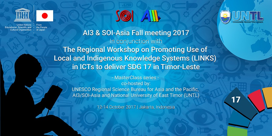 BACKDROP SOI-Asia Fall Meeting 2017